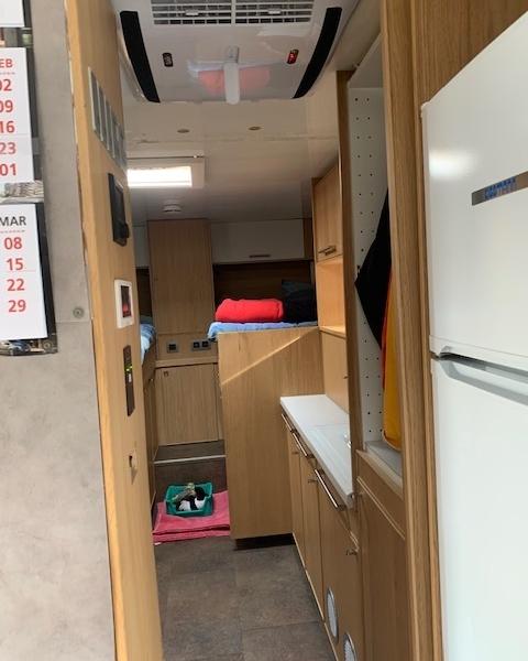 Binnenkader telair vrachtwagen camper